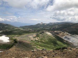 大雪山系縦走中の風景