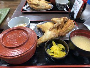 鶏の半身揚げ定食